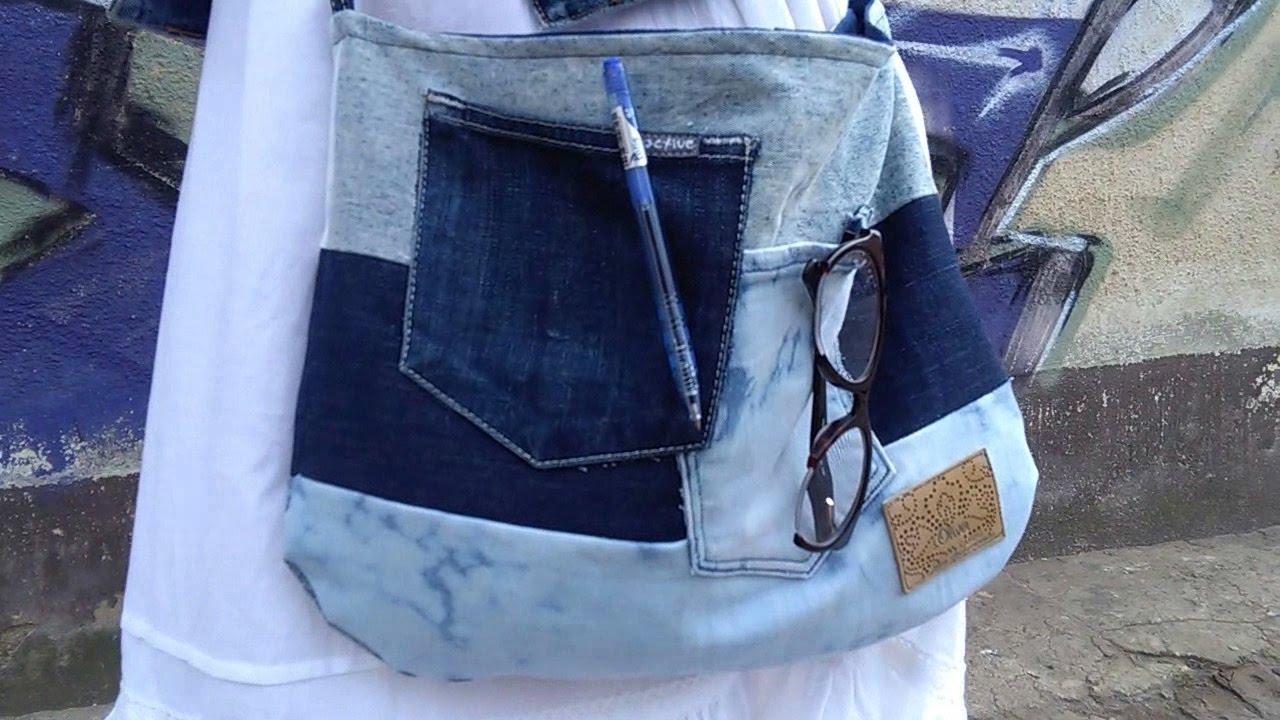 794ec90d5ce6f DIY torba ze starych jeansów :) - YouTube