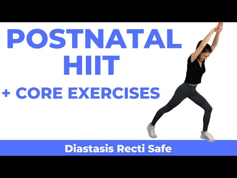 Postnatal HIIT with Diastasis Recti Exercises After Pregnancy