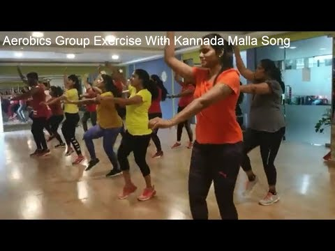 Group Exercise with Kannada Malla Song At O2 Fitness Zone