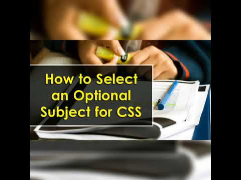 Best optional subjects for css 2020