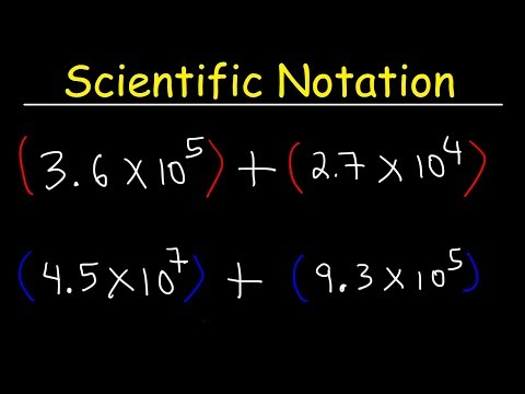 Scientific Notation - Addition and Subtraction