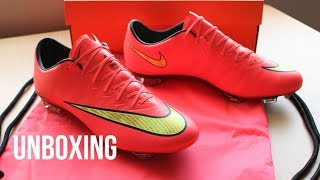 New | Unboxing Nike Mercurial Vapor X 10 Fg - Hyper Punch/gold/black
