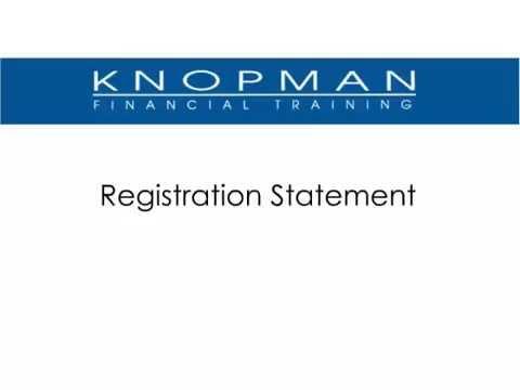 Securities Registration (Part 1 Of 2) [Knopman Notes]
