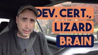 Developer Certifications, Lizard brain and Avengers