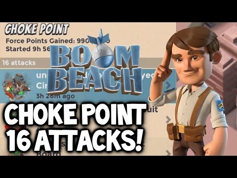 "Boom Beach ★ Operation ""Choke Point"" ★ 16 ATTACKS! ★ Operation Base Takedown!"