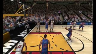 NBA Live 07 PC Gameplay (detroit pistons vs miami heat)