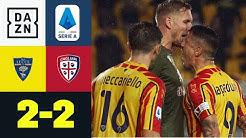 Verrücktes Nachholspiel: Regen, Rangeleien, rote Karten: Lecce – Cagliari 2:2 | Serie A | DAZN
