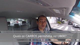 Quais os CARROS permitidos na Uber?