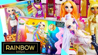Rainbow High Hair Studio & Hair Salon Unboxing Exclusive Doll Unicorn Hair!
