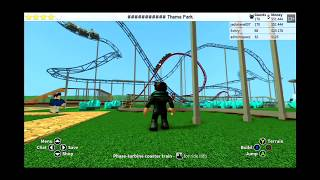 lets play roblox roller coaster tycoon 2 - my new beast in theme park