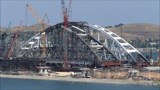 Строительство Керченского моста (июль, 2017).
