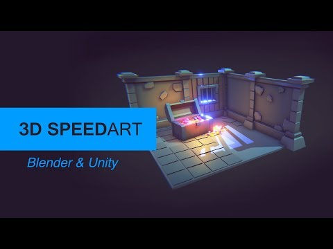 [Speed-art] Modeling Game assets in Polygonal/LowPoly style - Modular Dungeon | Blender and Unity 5