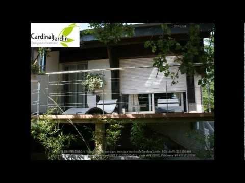 Terrasse Contemporaine Bois Composite Galets Et Lame D 39 Eau Youtube
