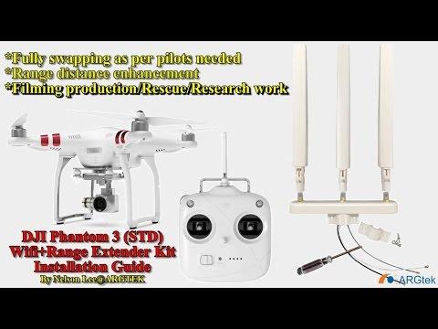 DJI Phantom 3 Standard ARGtek Wifi+Range Extender Kit Installation Guide