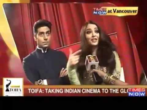 Aishwarya  Rai with Abhishek Bachan at Lux Cozi TOIFA 2013, Vancouver, Canada