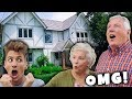 My PARENTS REACT to Our NEW HOUSE! *Shocking First Impression*