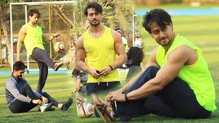 Tiger Shroff,Aparshakti Khurana,Shashank Khaitan \u0026 Abhimanyu Dasani  Play Football @ Jamnabai Ground