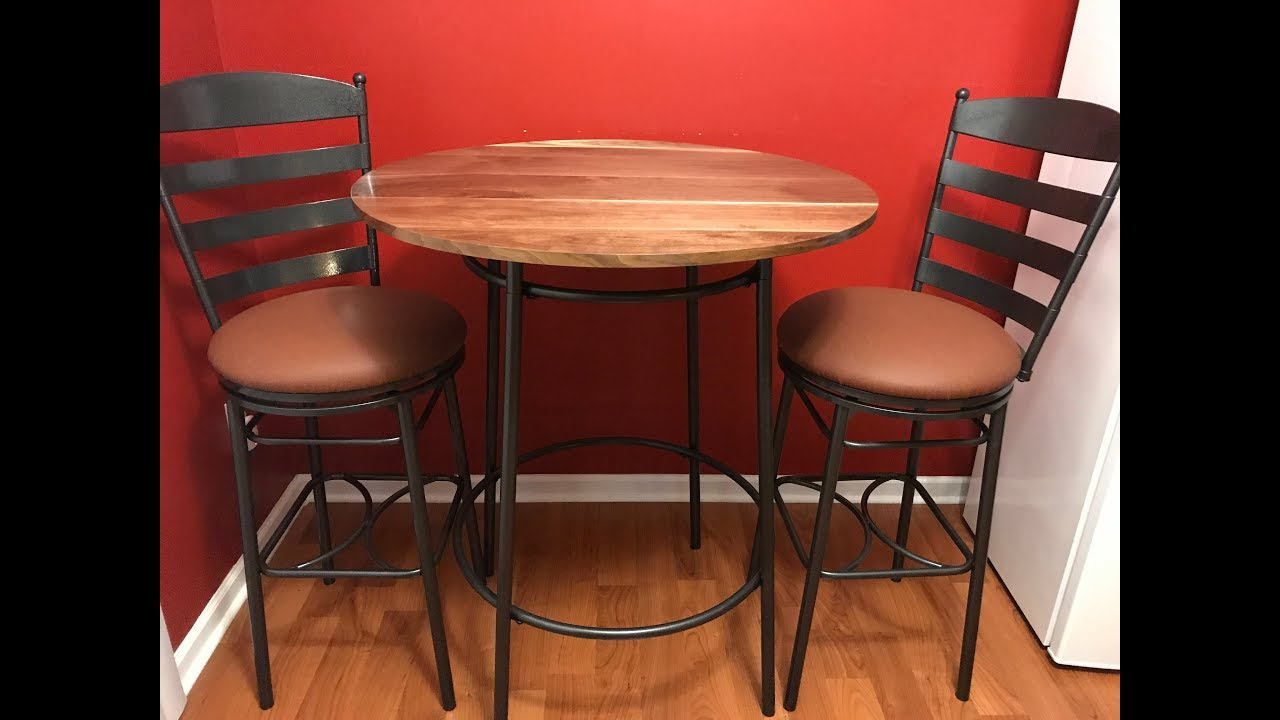 Upcycle High Top Bar Table U0026 Bar Stools From Trash Finds