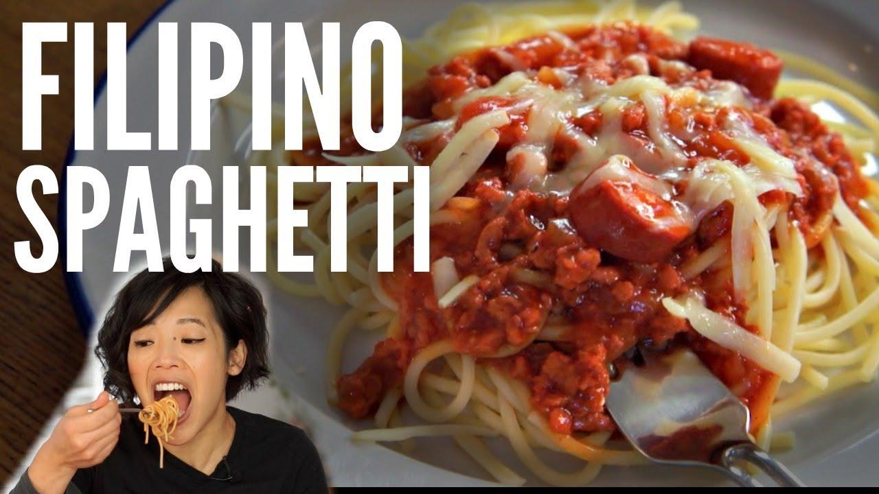 FILIPINO SPAGHETTI Jollibee Inspired Pinoy Recipe - YouTube