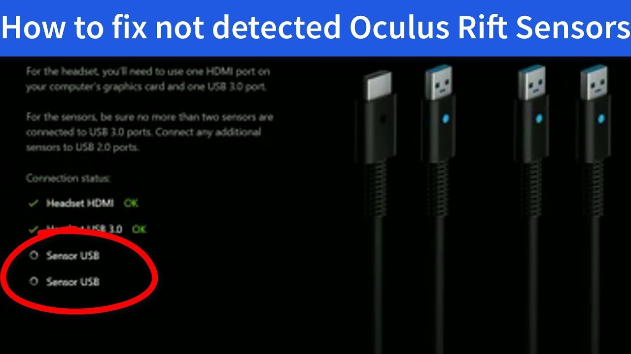 IT'S FIXED / FIX Oculus Rift sensors not detected