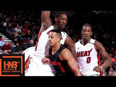 Miami Heat vs Portland Trail Blazers Full Game Highlights / March 12 / 2017-18 NBA Season