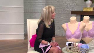 Breezies Wild Rose Seamless Wirefree Support Bra with Jayne Brown