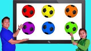 Jannie Aprende los Colores con Balones de Fútbol | Video Educativo para Niños
