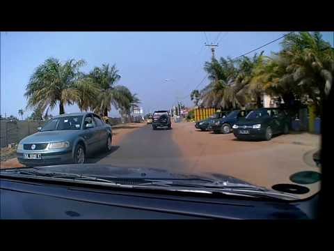 Kotu Market - Duplex Road - Senegambia Strip - Palm Beach Hotel (26/01/2018) (Dashcam)