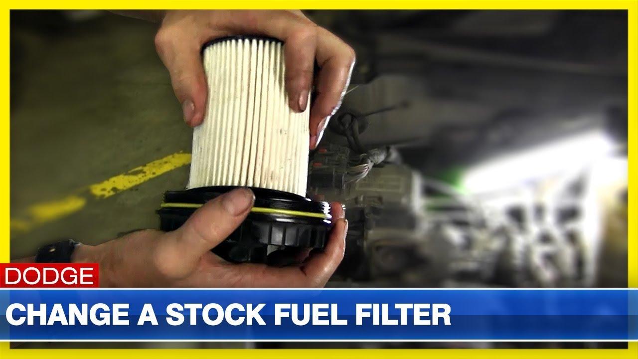 hight resolution of change a fuel filter on 2000 2002 dodge cummins
