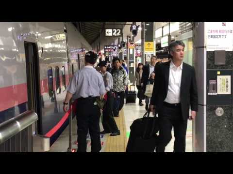 Shinkansen Trains Cleaners at Tokyo JR Station