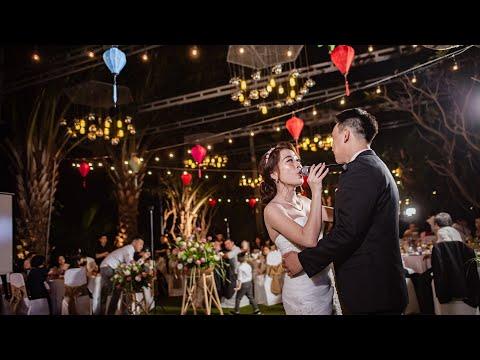 Cô dâu hát live Cầu Hôn tặng ông xã Việt Kiều | Tiệc cưới ngoài trời lãng mạn