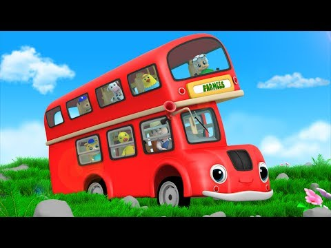Red Wheels On The Bus | Kindergarten Nursery Rhymes  For Children | Videos For Toddlers by Farmees