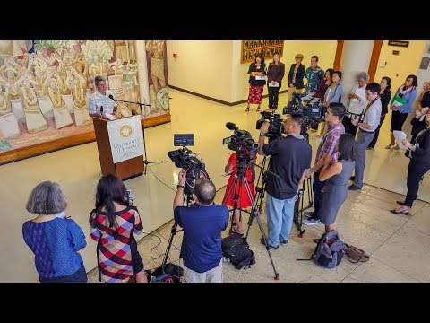 UH news conference: Student survey on sexual harassment and gender-based violence