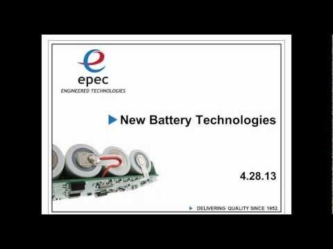 New Battery Technologies Webinar