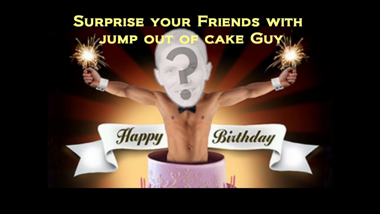 Jump Out Of Cake Guy For Birthday Bachelorette In Ab Bc Youtube