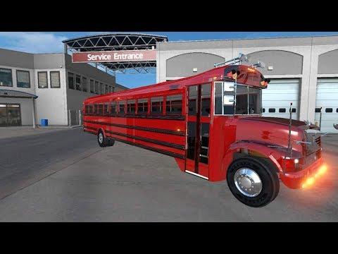 ATS | international 3800 autobús | el rojo recomiendo estados unidos | american truck simulator live