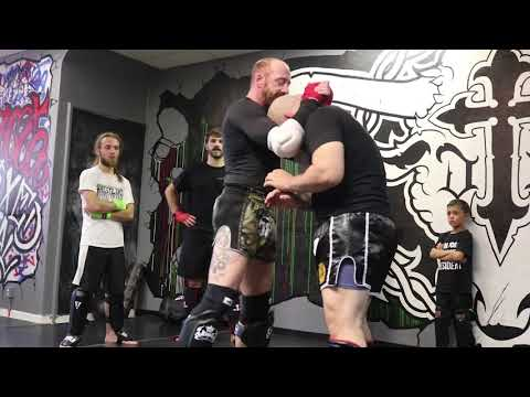 Muay Thai Technique: Kru Clinton Smith Teaching Knees and Elbows at Garcia MMA