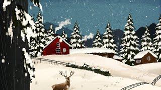 아이패드로 기본브러쉬로 그리는 겨울풍경