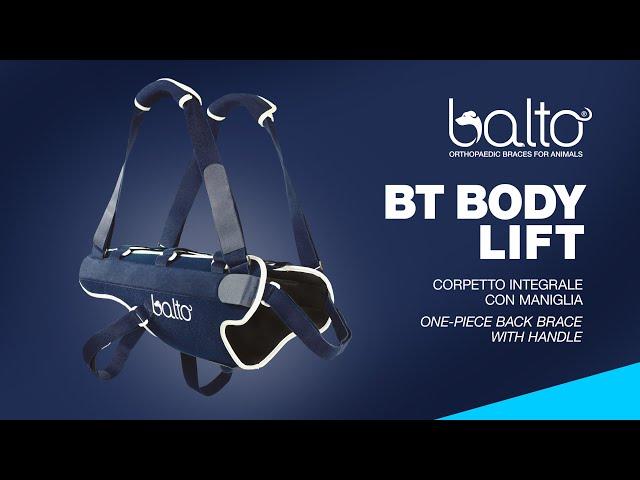 BT BODY LIFT - CORPETTO INTEGRALE CON MANIGLIA - ONE-PIECE BACK BRACE WITH HANDLE