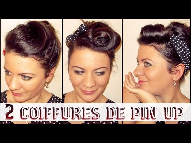 2 Coiffures De Pin Up Retro Pour Le Reveillon L A Hairstyle Inspiration Youtube
