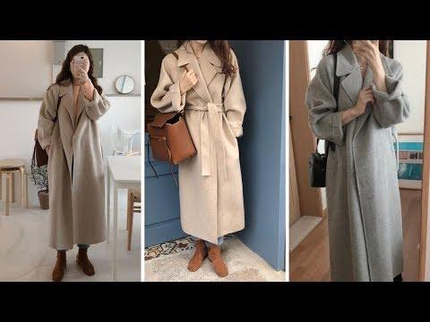 Пальто серое длинное женское
