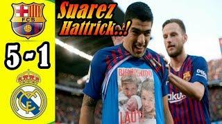 Luis Suarez Cetak 3 Gol, Barcelona Permalukan Real Madrid 5-1 di El Clasico!