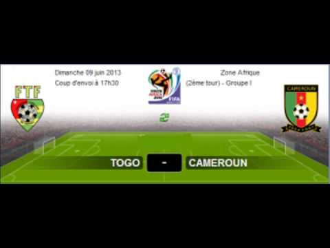 Regarder Match En Direct Togo vs Cameroun Le 09-06-2013   En Direct Togo vs Cameroun