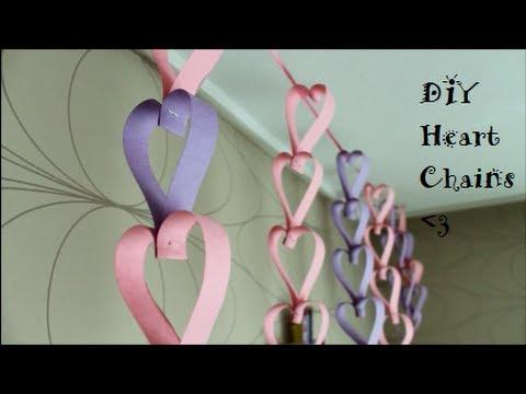 DIY: Heart Chain (Room Decor)