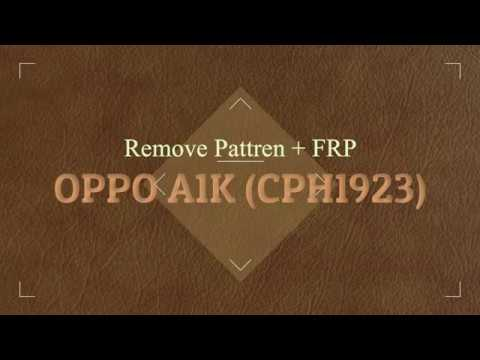 Oppo A1k Cph1923 Pattern Frp Remove With Easyjtag Plus Youtube