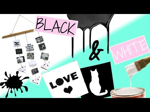 DIY BLACK AND WHITE INSPIRED ROOM DECOR !!! |A AND O DECOR|