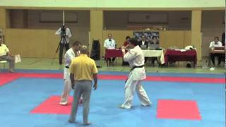 Komanov vs. Emanuel Lebo - VIENNA OPEN - Erstes offenes internationales Kyokushin-Kan Karate Turnier