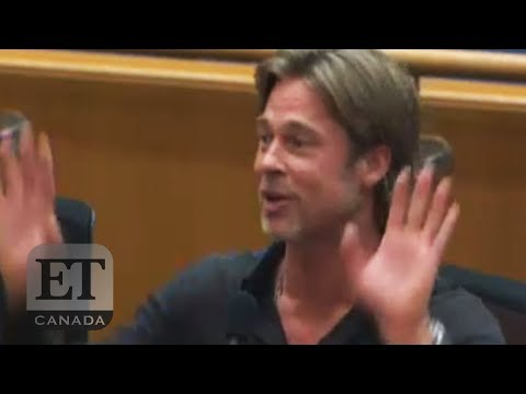 Brad Pitt Cut Off At L.A. County Meeting