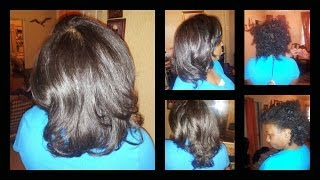 Flat Ironing natural hair: Using African Pride Naturally Straight