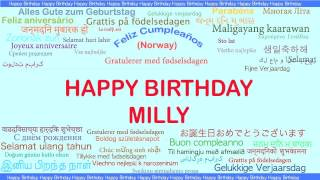 Milly   Languages Idiomas - Happy Birthday